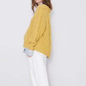 Zara cable knit oversized sweater